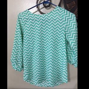 Everly Boutique Boho Chic Chevron shirt